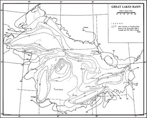 great lakes basin frost map