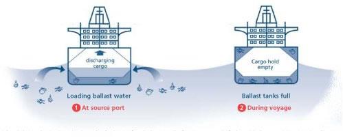 Ballast water loading