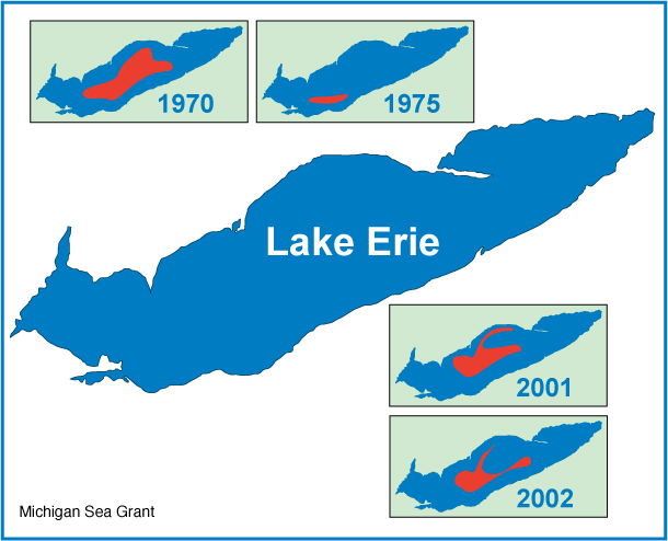 Lake Erie through the years graphic