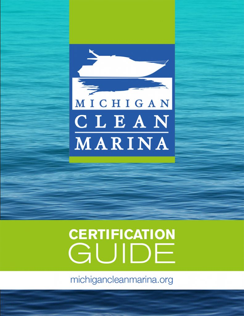 Michigan Clean Marina Certification Guide Cover with logo and waves
