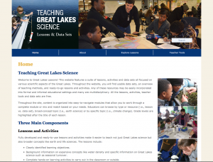 Teaching Great Lakes Science features a suite of lessons, activities and data sets all focused on various scientific aspects of the Great Lakes.