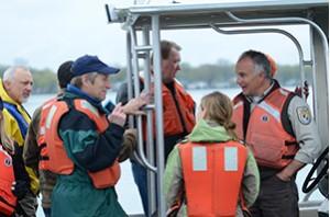 Michigan Sea Grant Sturgeon Reef Construction tour 2012
