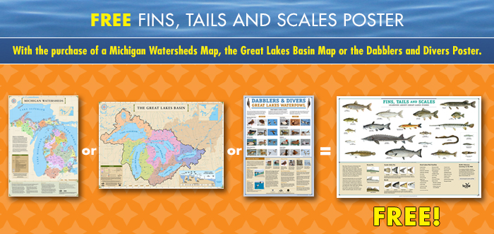 PROOF Bookstore free Fins Tales Scales poster sale-700w-rev2