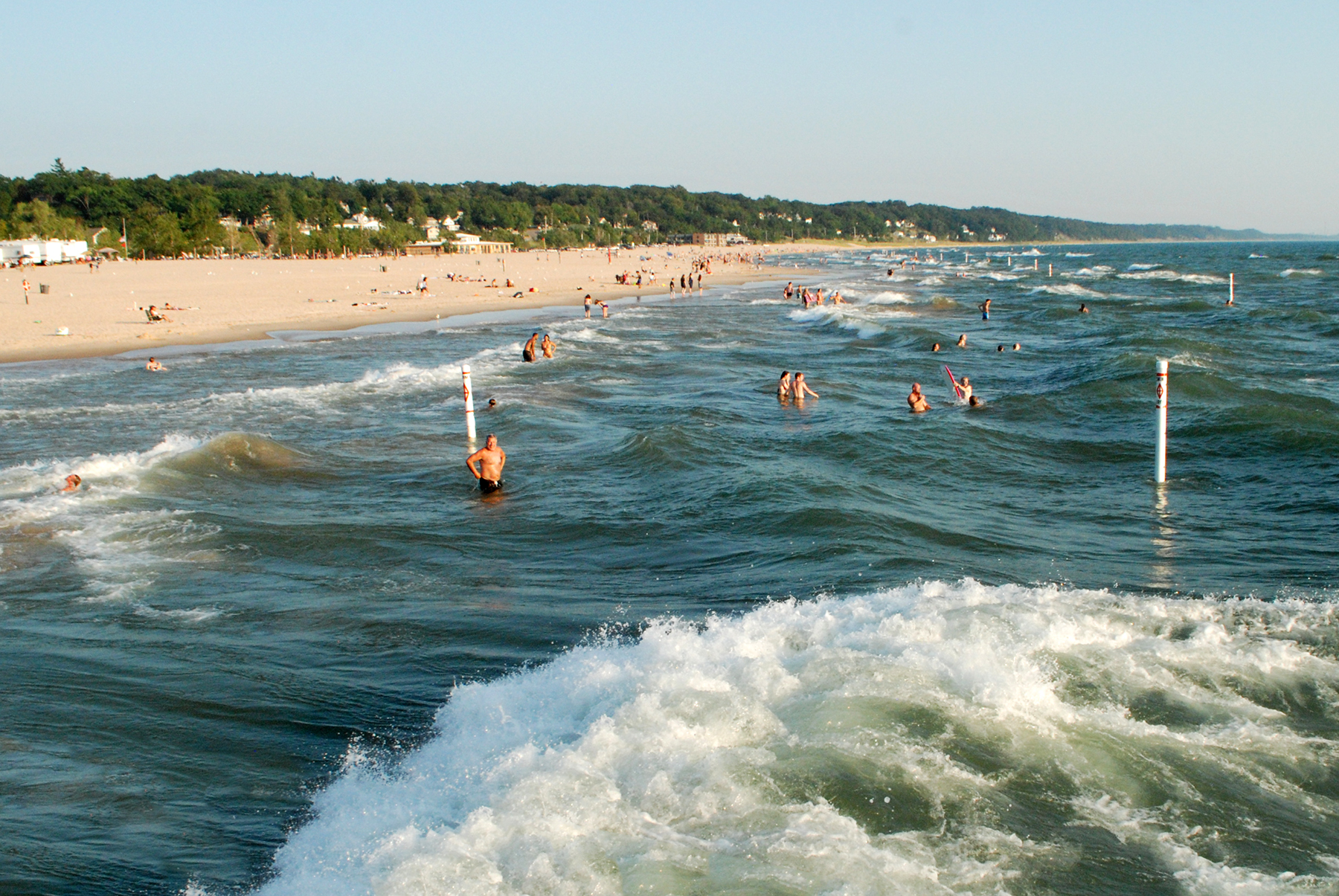 Photo Kurt Byers Grand Haven Beach Safety Waves