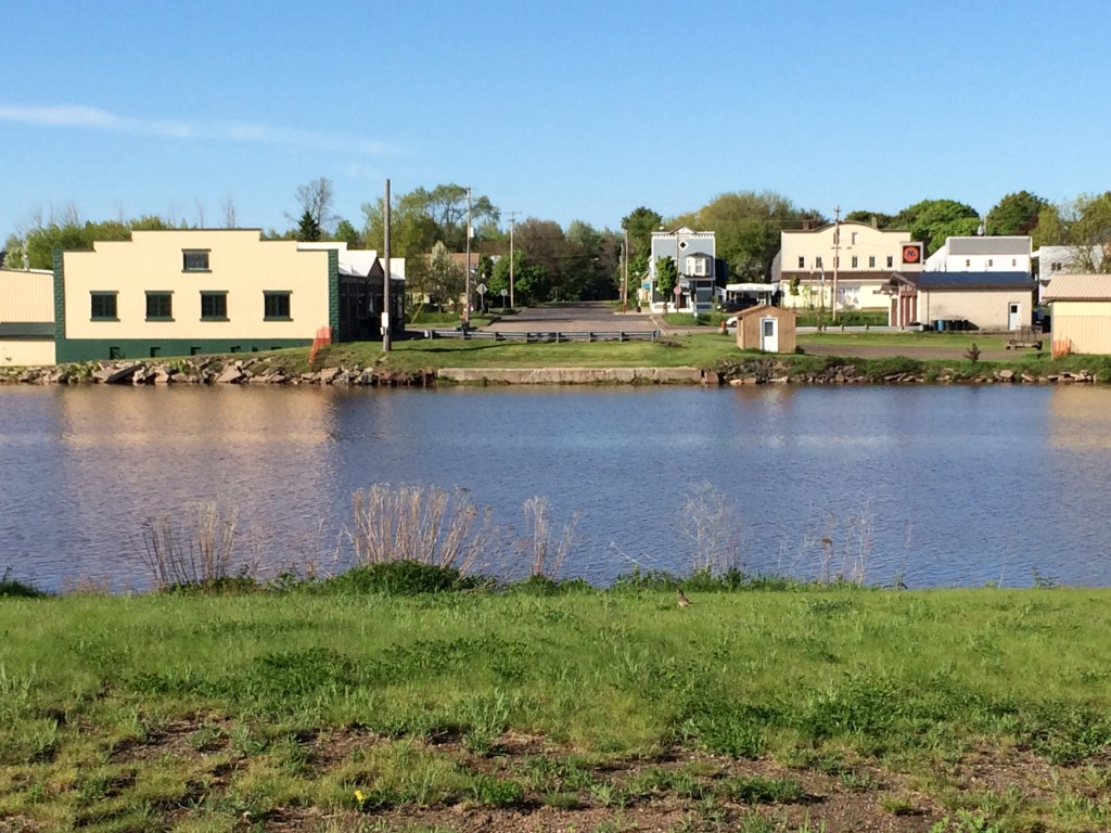 Downtown Ontonagon from across the river