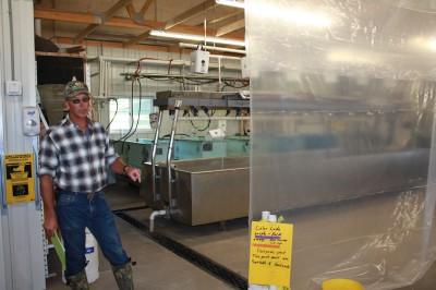 Baitfish farm is shown using AIS-HACCP/Aquaculture Biosecurity procedures. Photo: Ron Kinnunen, Michigan Sea Grant