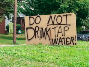 Yard sign in Toledo during the 2014 drinking water crisis. Image courtesy of NOAA.