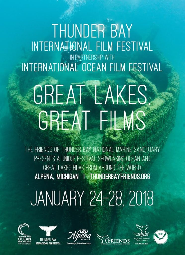The 2018 Thunder Bay International Film Festival features films about Great Lakes issues, ocean exploration, maritime heritage, and more.