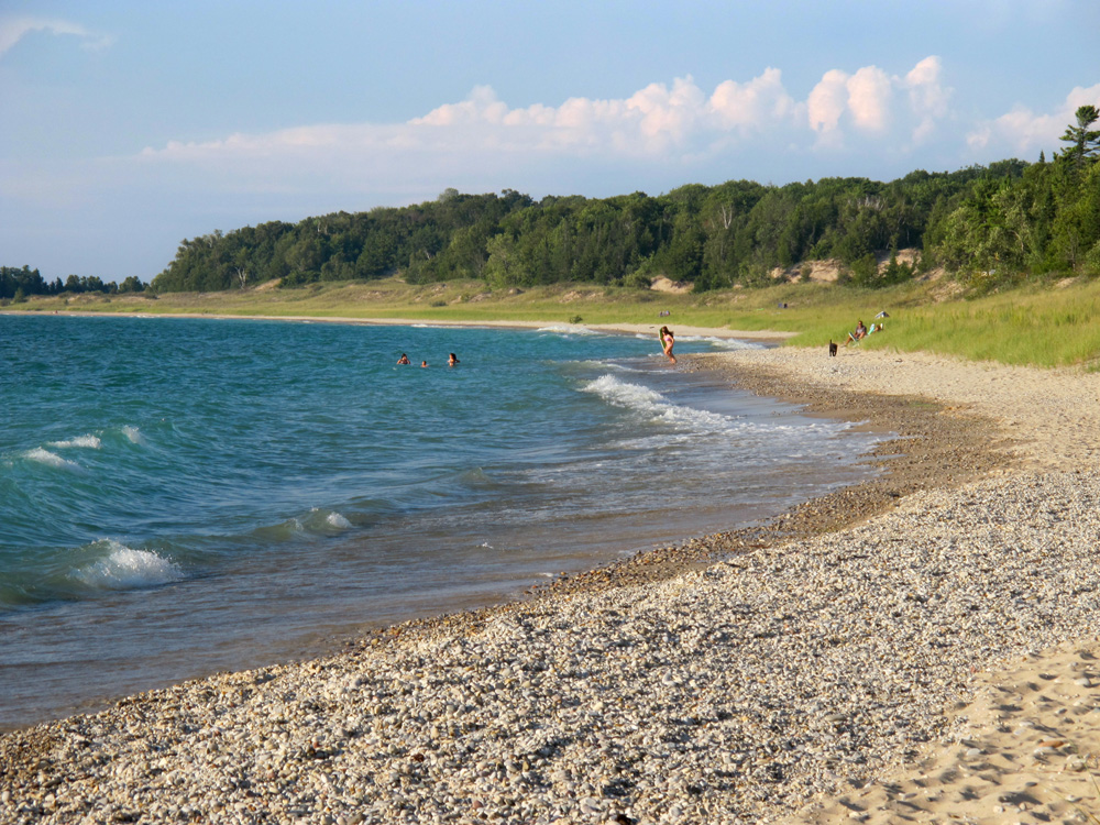 Beach in Charlevoix, MI