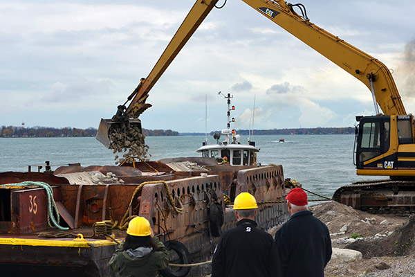 Reef restoration project st. mary's river