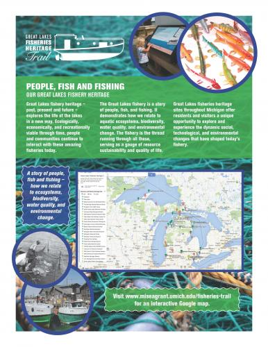Poster showing locations on Michigan map