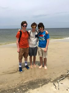 Dexter high school team members field trip to Horn Island