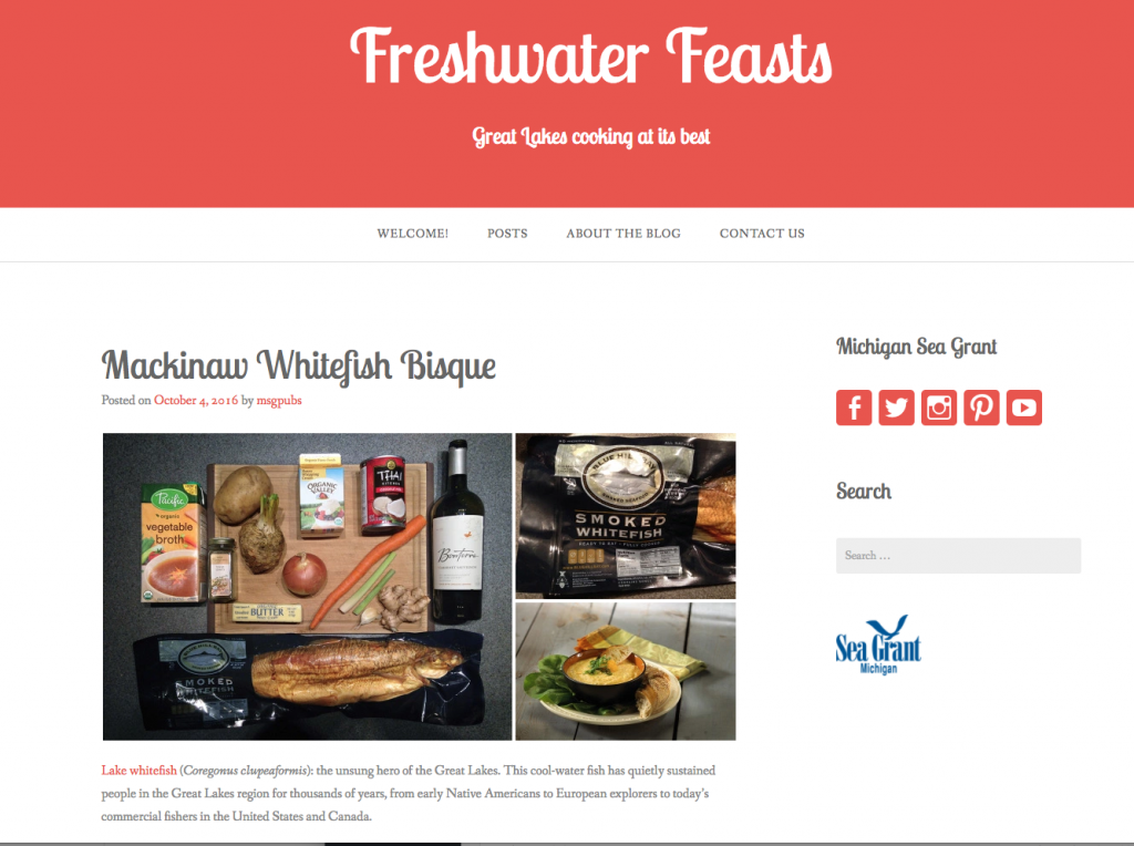 freshwater feasts blog screenshot