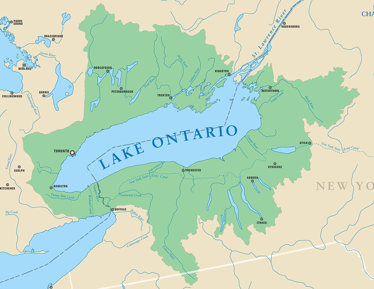 lakes of ontario map Lake Ontario Michigan Sea Grant lakes of ontario map