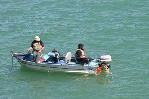 Boat in the Detroit River