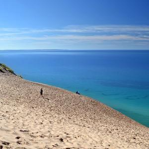 sand dunes lake michigan
