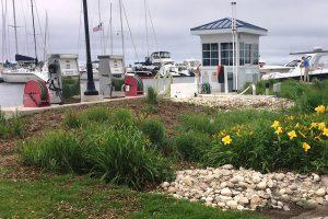 Clean Marina bioswale at Egg Harbor