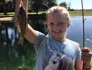 camper with her catch