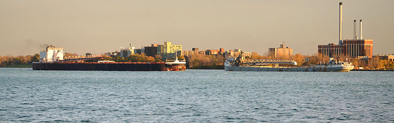 ships on the detroit river