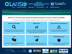 GLANSIS home page screen shot
