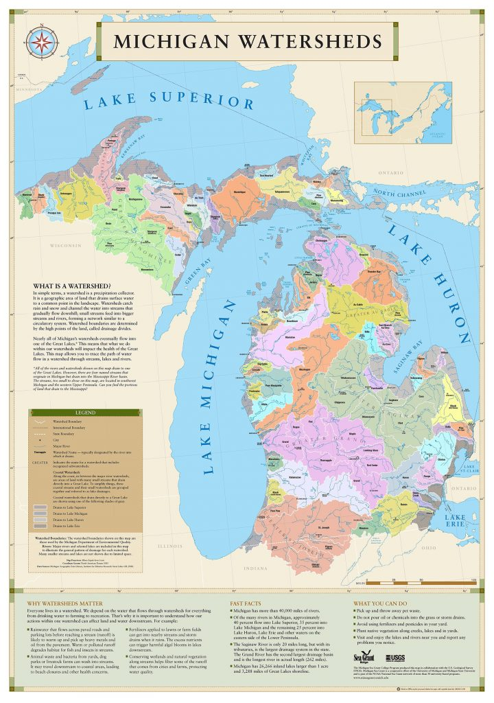 Michigan Watershed map