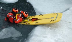 ice rescue on the river