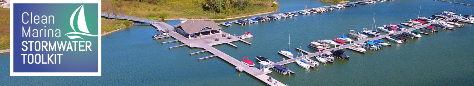 drone view of a marina
