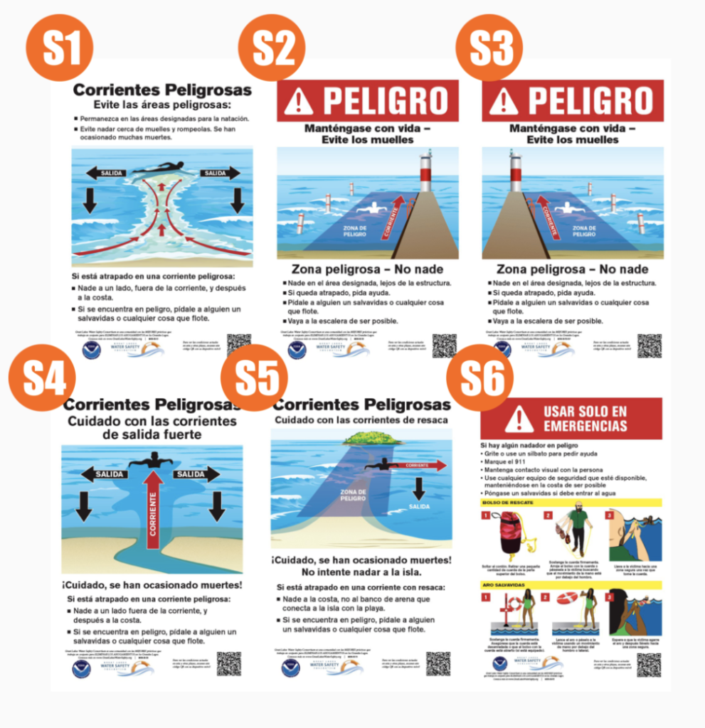 Water Safety Signs in Spanish