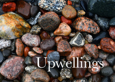 upwellings cover with rocks from lake superior shoreline