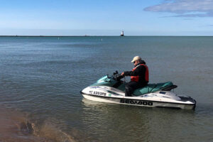jet ski used as a research tool